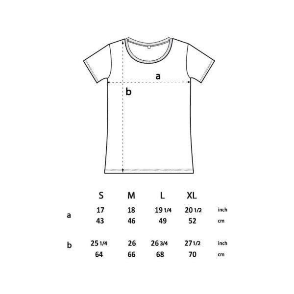 Frauhedi T-Shirt Größenübersicht